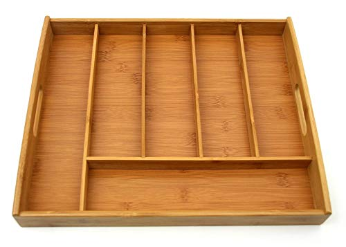Kesper Besteckkasten 38x32x4cm, Bambus, Braun, 38 x 32 x 4 cm