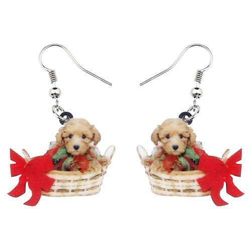 Dames Oorbellen Acryl Schattige Mand Puppy Teddy Hond Oorbellen Grote Lange Bengelen Drop Nieuwigheid Dier Sieraden