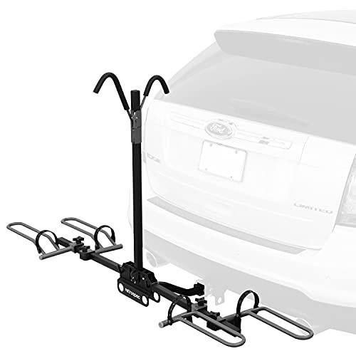 Retrospec Lenox Car Hitch Mount Tray Bike Rack w/ 2-inch Receiver - 2 Bicycle Carrier - Class II or...