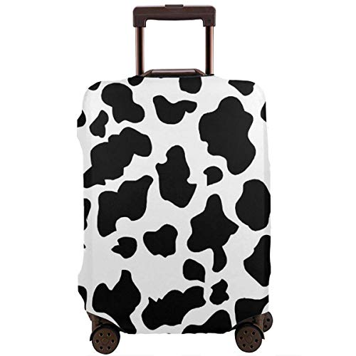 Travel Suitcase Protector Cow Print Luggage Cover Protective Travel Trunk Case Elastic Suitcase Protector Covers Fits 18-21 Inch Luggage