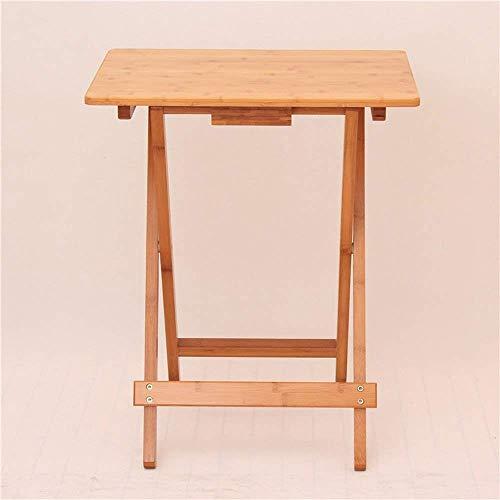 HYY-YY Computertisch Klapptische quadratischer Tisch einfacher kleiner Tisch tragbarer Tisch Laptop Schreibtisch Outdoor Massivholz Tisch