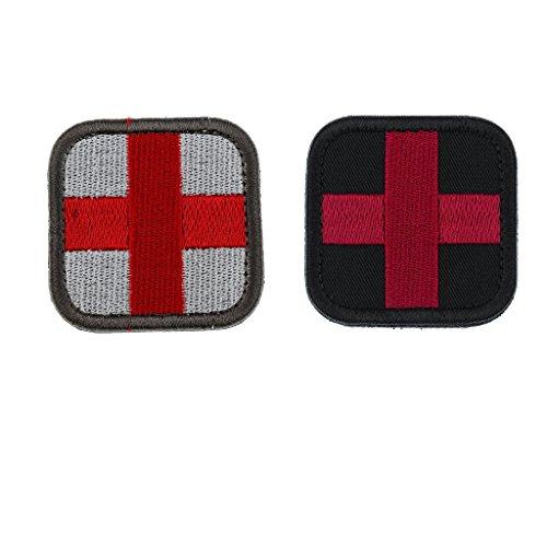 oshhni 50 x 50 mm klittenband sanitaders eerstehulppatch van het rode kruis voor kledingdecoratie