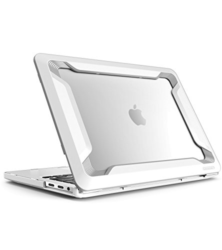 i-Blason Designed for MacBook Pro 15 Case 2019 2018 2017 2016 Release A1990/A1707, [Heavy Duty] Slim Rubberized Cover with TPU Bumper for Apple Macbook Pro 15' with Touch Bar and Touch ID (White)