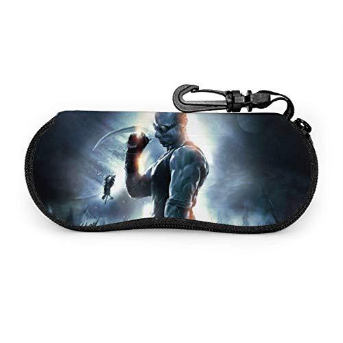 Chronicles of Riddick Glasses Case Wasserdicht mit Karabinersicherheit mit Reißverschluss Tragbare Sonnenbrille Soft Case Gürtelclip