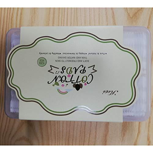 120 hojas de maquillaje facial toallitas de algodón limpieza facial removedor de esmalte de uñas almohadillas para el cuidado de la piel para mujeres removedor de maquillaje-blanco