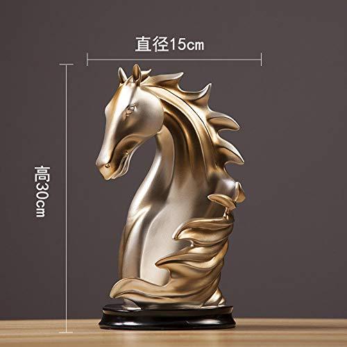 Creatieve Woonkamer Wijnkast Wijnrek Decoratie Ambachten-Paard Hoofd Wijnrek (Champagne Zilver) -30 * 15cm