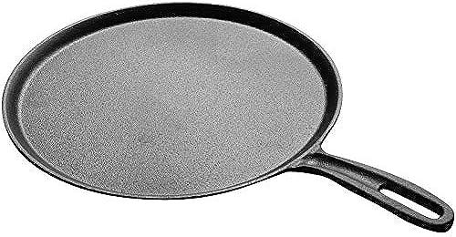 Gjhh Poêle à crêpes de 27,5 cm avec tartinade à crêpe, Plaque chauffante Non panée pour crêpes à Frire