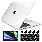 Dongke New MacBook Air 13 inch Case 2020 2019 2018 Release Model M1 A2337/A2179/A1932, Logo See Through Hard Case Cover for MacBook Air 13.3 inch with Retina Display Touch ID - Crystal Transparent