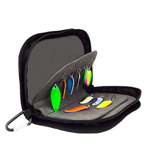 FISHN Blinkertasche – Spoontasche - robuste Tasche für Blinker, Spoons, Spinner und Fliegen - sehr flach, leicht und bietet viel Schutz (FISHN Blinkertasche)