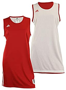 Adidas Womens Reversible Basketball Practice Jersey L Power Red/White