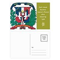 ドミニカの共和国の国章の国 詩のポストカードセットサンクスカード郵送側20個