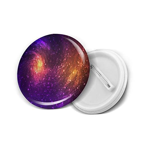 Coloridas estrellas espaciales y nebulosas divertidas insignia de botón Pin de solapa regalos novedad para cumpleaños Navidad 5 piezas L