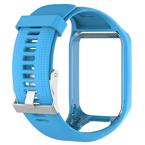 Tom Tom Runner 3 Watch Strap,Silicone Breathable Wristband,Waterproof Shockproof Fitness Rugged Watch Strap Replacement for Tomtom Spark/Golfer 2 Sports GPS Running Smartwatch