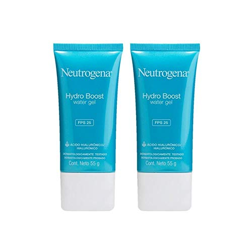 kit com 2 Gel Hidratante Facial Neutrogena Hydro Boost Water Fps 25 55g