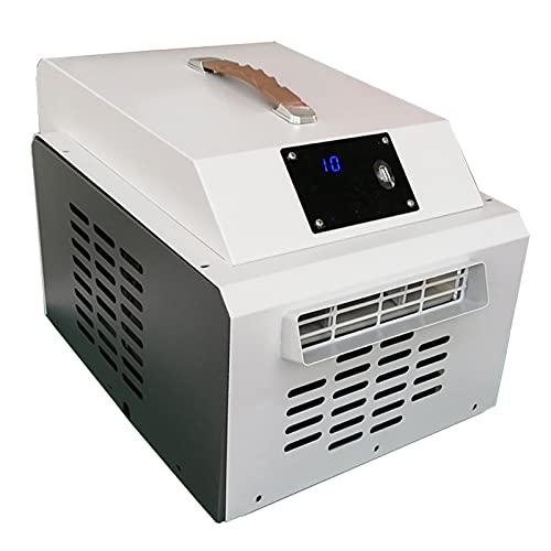 Condizionatore d'aria portatile Riscaldamento e raffreddamento Mini aria condizionata Sala riunioni dormitorio Tenda da campeggio Piccolo condizionatore d'aria per clima caldo/freddo,Bianca,12V