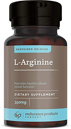 L-Arginine - 350mg Sustained Release for Optimal Absorption - Nitric Oxide Precursor*, 400 Tablets - Endurance Products Company