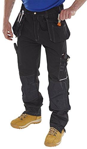 B-Click werkbroek, taillebroek - zwart, maat: UK32, EU42