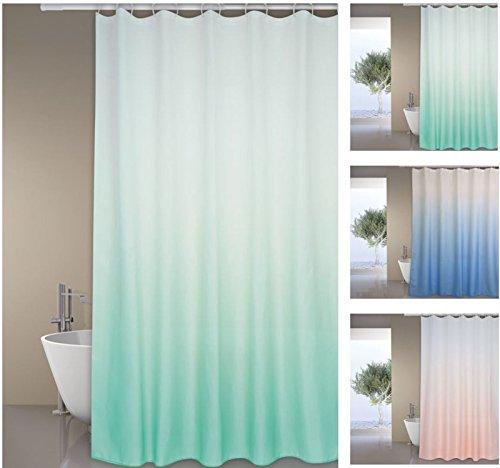 """MSV Premium Anti-Schimmel Textil Duschvorhang - Anti-Bakteriell, waschbar, 100prozent wasserdicht, mit 12 Duschvorhangringen - Polyester, """"Sugar"""" Grün 180x200cm"""