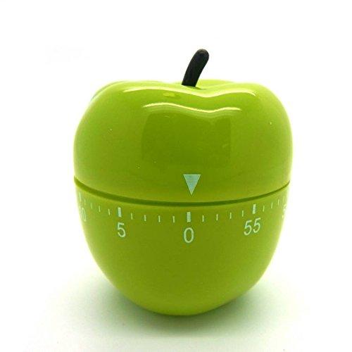 Eieruhr Kurzzeitmesser Wecker Küchentimer Küchenuhr Schaltuhr Timer Kochhilfe Walzen-Apfel grün