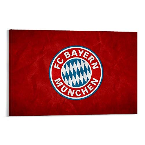 Lienzo abstracto FC-Bayern-Munich-Wallpapers-HD moderno pared decoración 20x30 pulgadas (50x75cm) para decoración del hogar marco/desmarco