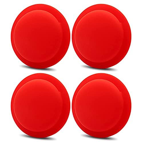 YALANK Funda Protectora de Silicona de 4 Paquetes para Apple AirTag, Funda Protectora Suave antiarañazos Ligera y Adhesiva para AirTags Loop (4 Pcs Red)