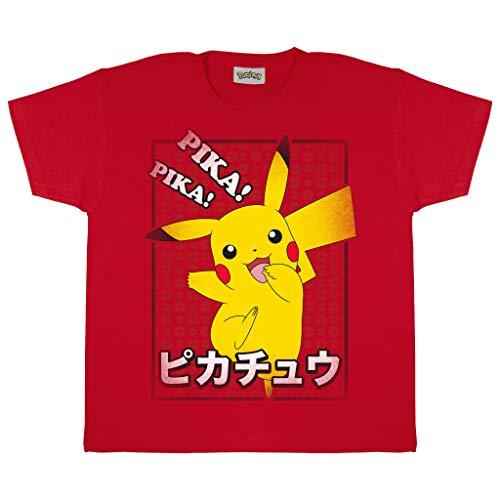 Pokemon Pikachu Pika Pika Japonais Garçons T-Shirt Rouge 143 | Âge 3-13, Vêtements pour Enfants, Kids Top, Tween Tailles Adolescents, Son Anniversaire Idée Cadeau