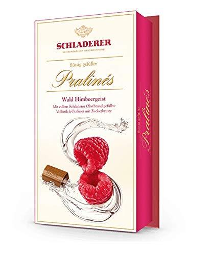 Schladerer Pralines Wald Himbeergeist Vollmilch Schokolade + 2 Pralinen Gratis 148 gr.