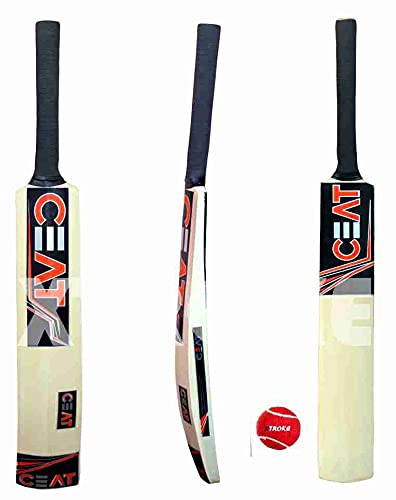 XTROKE Popular Willow Cricket Bat with Tennis Ball Combo for Kids (Size-3 Age 6-10 Years Just Kids)