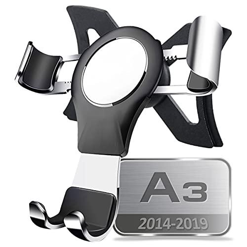 AYADA Porta Cellulare Compatibile con A3 8V, Supporto Cellulare Smartphone Holder gravità Auto Lock Stabile Facile da Installare Hatchback S3 2013 2014 2015 2016 2017 2018 2019 Accessori