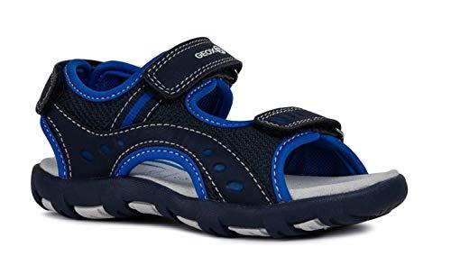 Geox Sandal PIANETA J9264A Unisex - Kinder Trekking Sandalen,Jungen,Mädchen Outdoor-Sandale,Sport-Sandale,Aussensteg,3-Fach Klett,Navy/ROYAL,35