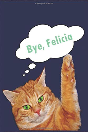 Bye, Felicia: 6X9 High quality  white paper notebook journal