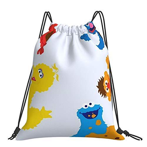 Se-Same Str-EET Drawstring Sports Gym Bags Drawstring Backpack Cinch Bags for School Sport Travel Beach