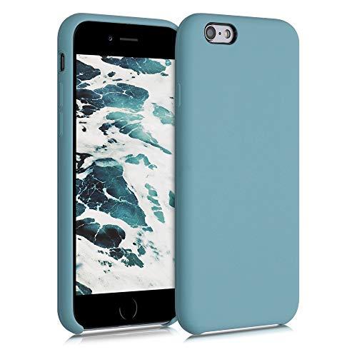 kwmobile Hülle kompatibel mit Apple iPhone 6 / 6S - Handyhülle gummiert - Handy Case in Stone Blue