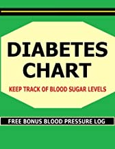 Diabetes Chart: Keep track of Blood Sugar levels in this Diabetes Chart book. Bonus! Includes FREE Blood Pressure Charts.