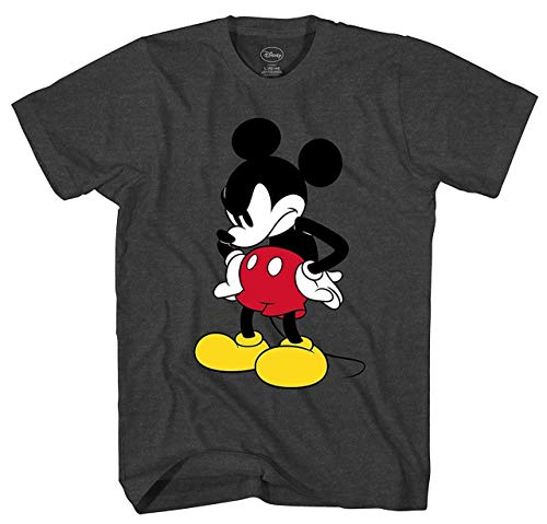 Disney Mad Mickey Mouse Adult T-Shirt Charcoal Heather