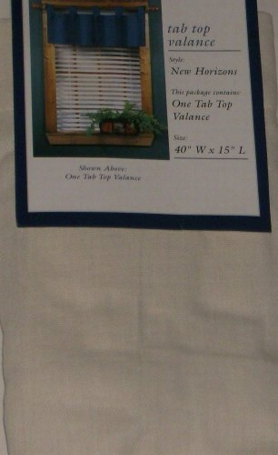 Willow Bay Tab Top Window Valance Ivory Curtain Topper