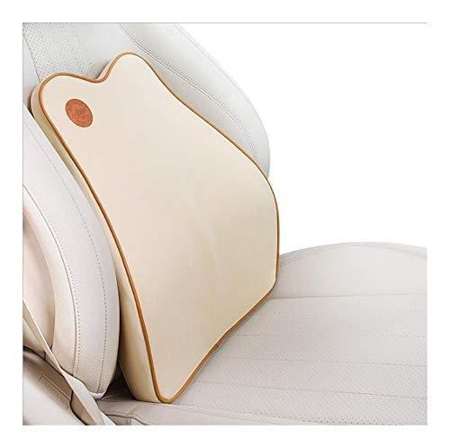 JINGZI Bath Rugs Car Lumbar Cushion, Car Lumbar Pillow, Lumbar Support, Lumbar Protection Seat Memory Foam Cushion (Color : Beige)