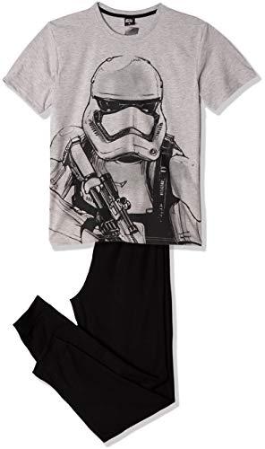 Star Wars Nachtwäsche. Stormtrooper Motto Herren Jungen Schlafanzug T-Shirt und Hose Schlafanzug M-XXL Gr. XL, grau/schwarz