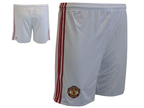 adidas Manchester United Home Fußball-Short/Fussball-Spielerhose MUFC ManUtd.Sporthose Turnhose weiß, Größe:XXL