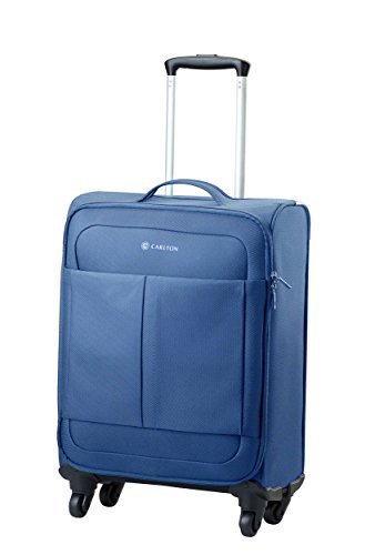 Carlton Luggage Set of 3 or Single Suitcases – Trolley Case Sets or Single Cases Ultralite NXT – 4 Wheel Spinner Suitcase inc Hand Baggage Size 55cm x 39 x 20-3 Colours (Small 55cm, Navy)