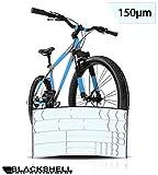 Blackshell Fahrrad Schutzfolie Aufkleber Rahmenschutz für z.B. BMX, MTB, Rennrad oder E-Bike -...