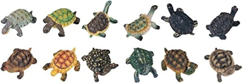 alto descuento StealStreet ss-g-49406, ss-g-49406, ss-g-49406, tortugas tortuga coleccionable figura estatua figura de piel de serpiente (Juego de 12)  estar en gran demanda
