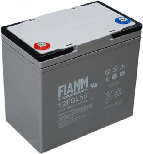 Batería Fiamm 12 V 55 Ah 12FGL55 VRLA AGM ERMETICA