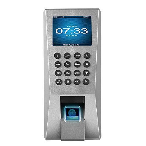 Garsent Fingerabdruck-Zeiterfassungsgerät, 125 kHz RFID-Karten-Fingerabdruck-Anwesenheitsmaschine mit 2,4-Zoll-TFT-Display für Türzugangskontrollsystem