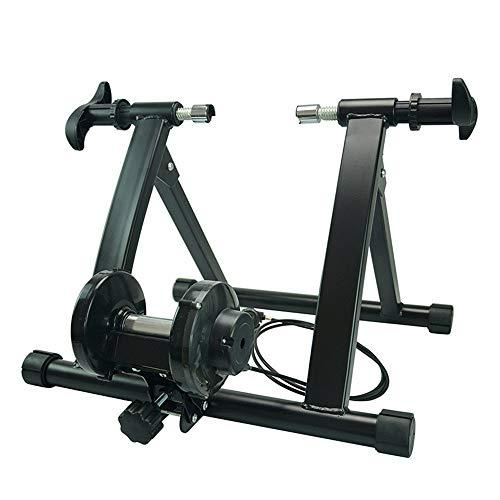 CuteLife Entrenador de Ciclo Indoor Bicicleta de Ejercicio Trainer Cubierta con 7 Nivel de Velocidad de Alambre de Control Ajustador Soporte de la Bici Trainer 24-27,5' Rueda 700 c Entrenador Turbo
