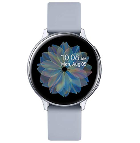 Samsung Galaxy Watch Active2 Explorer Edition, Fitnesstracker aus Aluminium, großes Display, ausdauernder Akku, wassergeschützt, 44 mm, inklusive 2x araree Schutzfolie, LTE, Silber