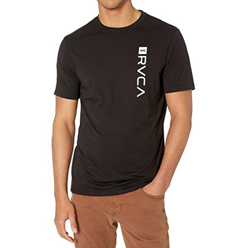 RVCA Men's Box Drirelease Short Sleeve T Shirt Black M