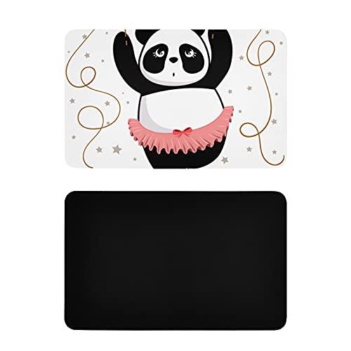 Decoración Cuadrada de Cocina,Bailando,Divertido Panda Gigante,Lindos imanes para Nevera,imanes Personalizados de PVC de Colores,4x2,5 Pulgadas