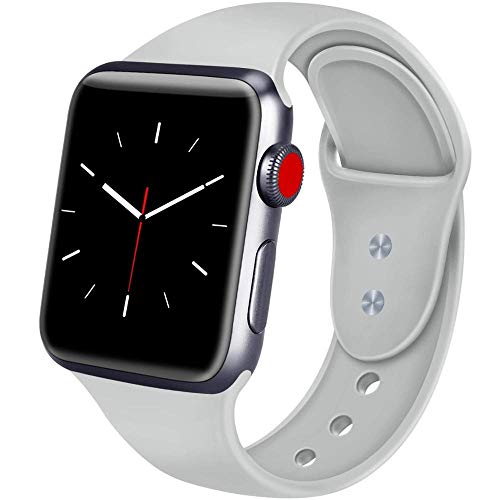 StyleDesign Correas Compatible con Apple Watch, Gris, M/L, 38/40mm