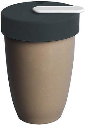 Loveramics Nomad 250ml Double Walled Mug Tumbler with Lid SET ふた付き 磁器 タンブラー 水筒 男女兼用 アウトドア用 遠足 釣り 登山 自転車 キャンプ バーベキュー 250ml (Taupe(トープ))